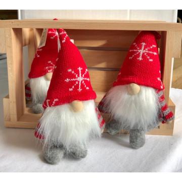 Filt julefar med strikket hue