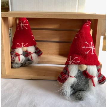 Filt julemor med strikket hue